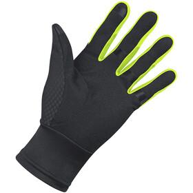 GORE WEAR Windstopper Gloves black/neon yellow